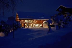 Зимнее шале в швейцарии