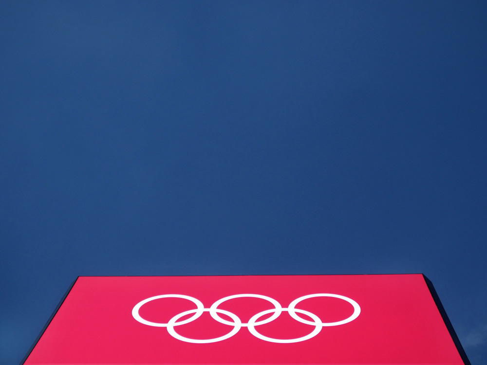 Olympic Rings Logo at London 2012 Olympic Park by London Interior Designers Callender Howorth