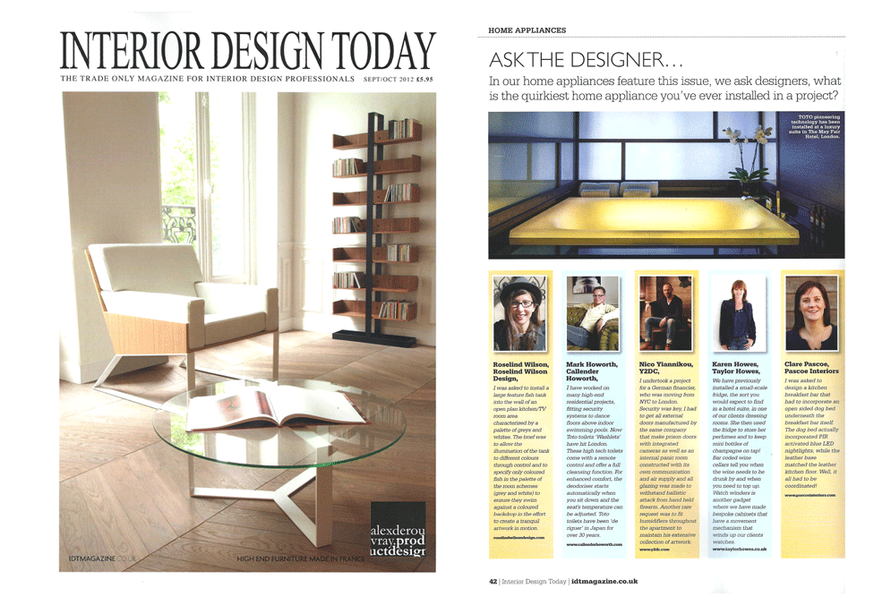 Interior Design Today September-October 2012 | Luxury Interior