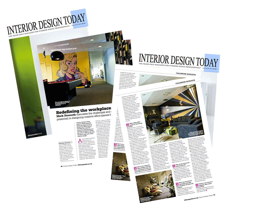 London interior designers Callender Howorth feature in Interior Design Today Magazine