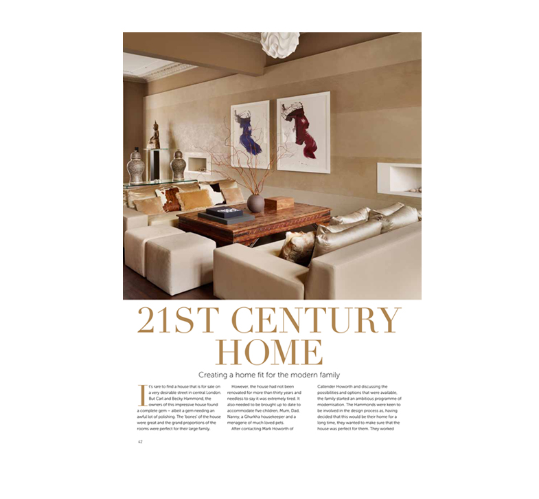 Callender Howorth Interior designers London, featuring their article published in Exclusive Magazine, Kensington and Chelsea