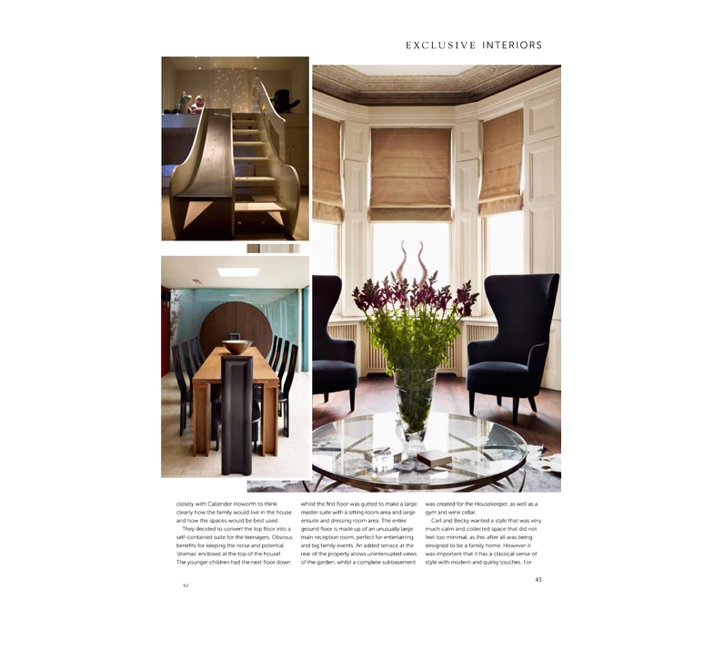 Callender howorth interior designers feature in exclusive for Interior design articles