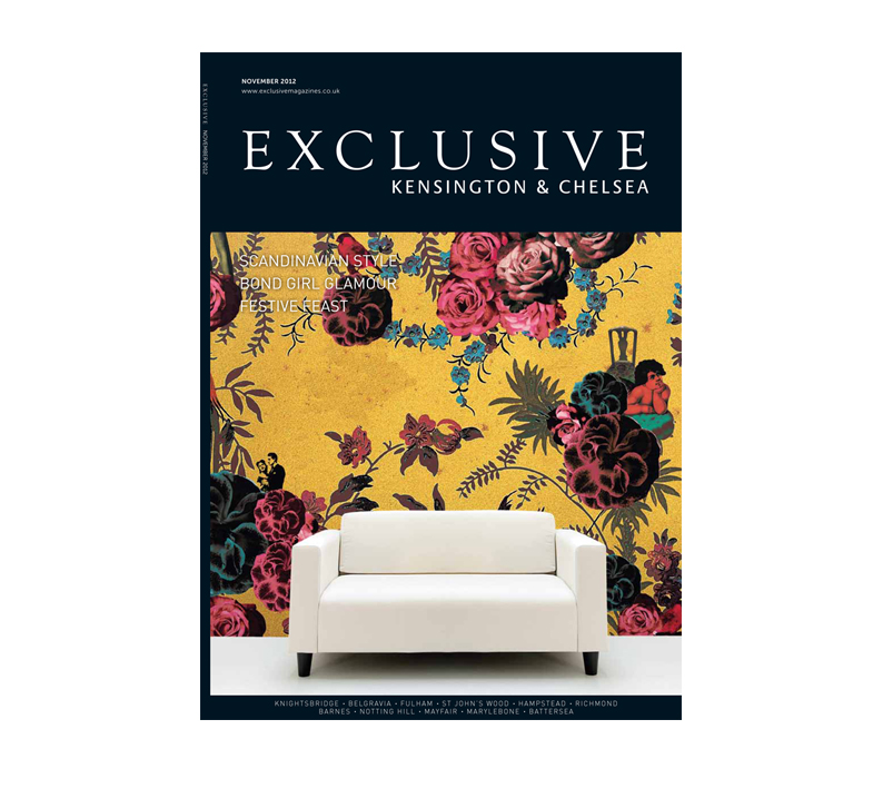 Cover of issue of Exclusive magazine features the interior design work of London interior designers Callender Howorth