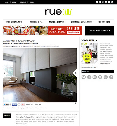 Styling tips on Rue Daily