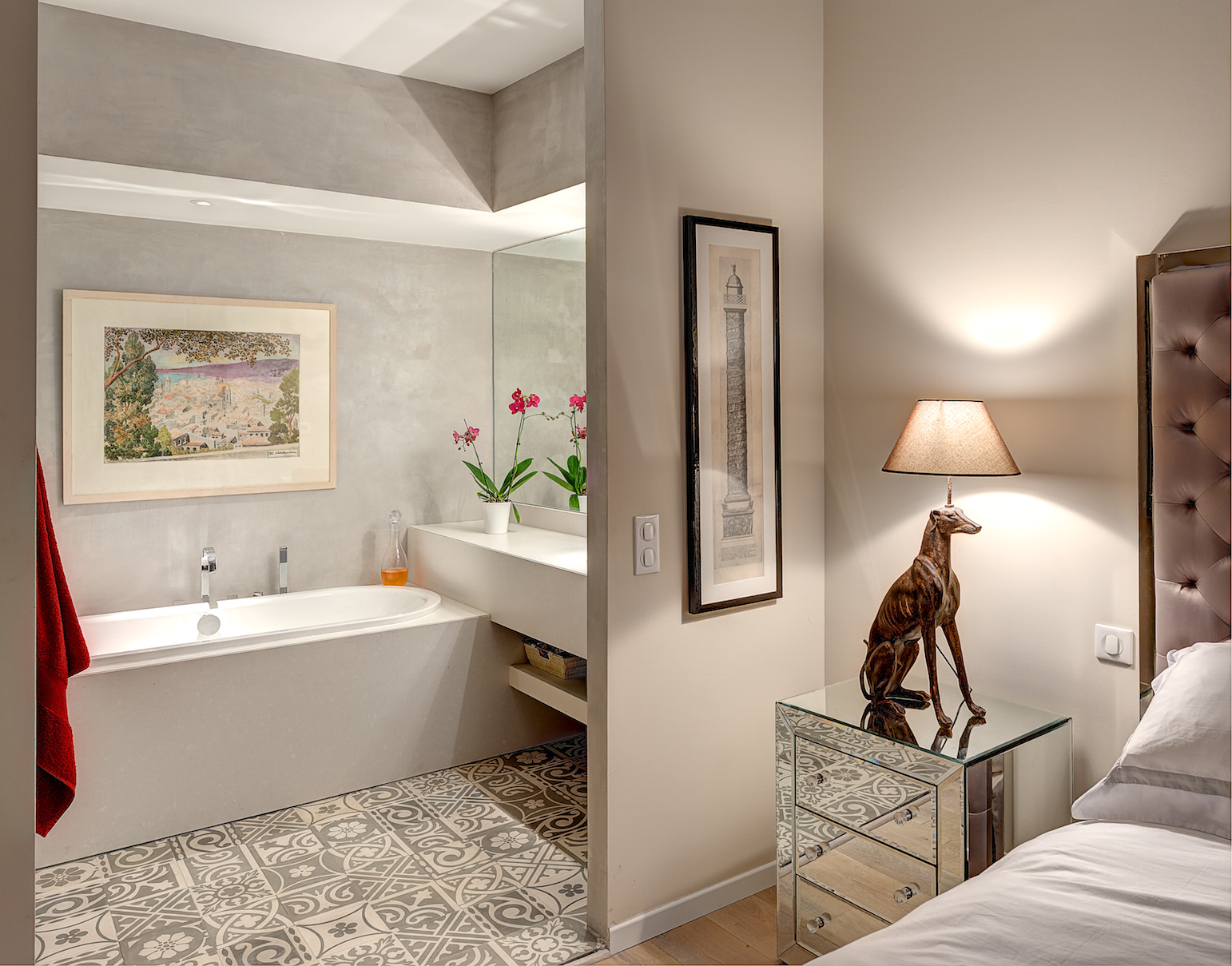 En suite Nice France Interior Design