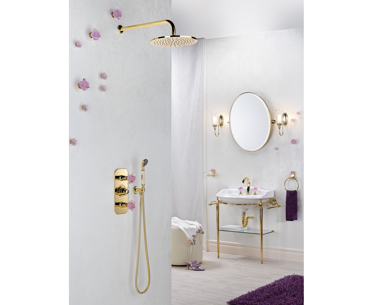 Bathroom Design Flowers