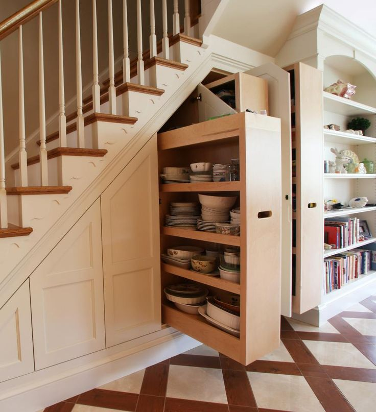 storage under the staircase